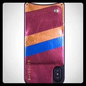 BANDOLIER Angie Metallic Rainbow iPhone X case